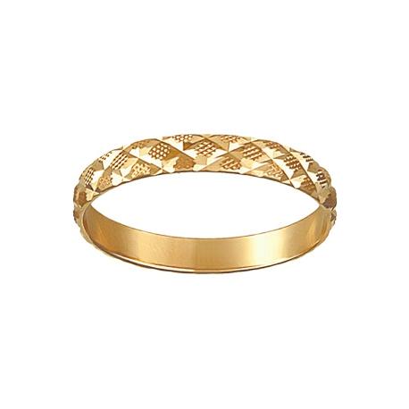 Кольцо обручальное с алмазной обработкой