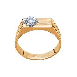 Печатка золотая с алмазной обработкой