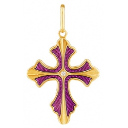Крест с бриллиантом