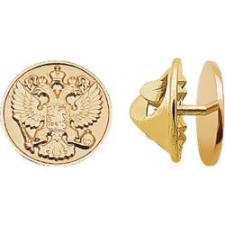 Значок золотой с гербом России