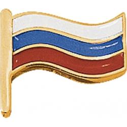 Значок золотой флаг России