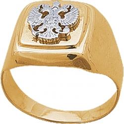 Печатка золотая с гербом России