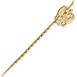 Булавка золотая с гербом России