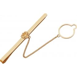 Зажим для галстука золотой с гербом России