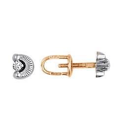 Серьги пусеты (гвоздики) с фианитом