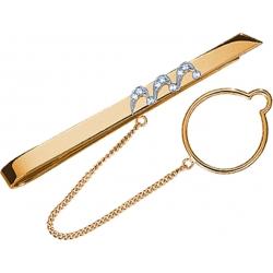Зажим для галстука с бриллиантами