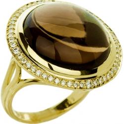 Кольцо с кварцем и бриллиантами