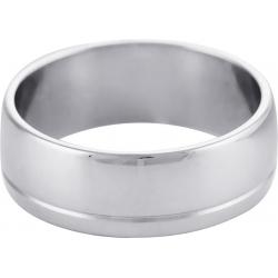 Кольцо обручальное с проточкой