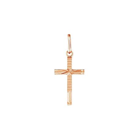 Крест золотой с алмазной обработкой