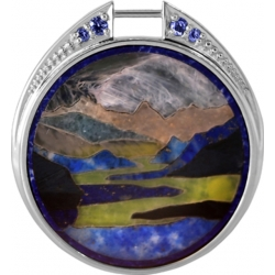 Подвеска серебряная с флорентийской мозаикой