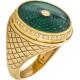 Кольцо с бриллиантами и эмалью