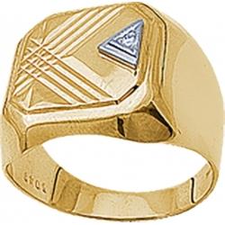 Печатка с бриллиантом