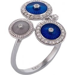 """Кольцо """"Наследие Фаберже"""" с бриллиантами и эмалью"""