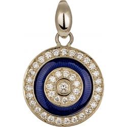 Подвеска с бриллиантами и синей эмалью