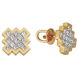 """Серьги пусеты (гвоздики) с бриллиантами в невидимой закрепке """"Invisible"""""""