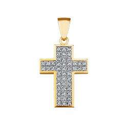 """Крест с бриллиантами в невидимой закрепке """"Invisible"""""""