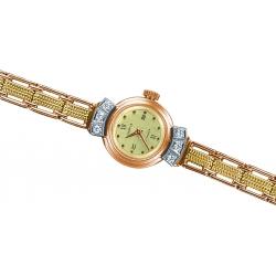 Часы золотые с бриллиантами и браслетом