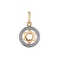 Подвеска с бриллиантами Звезда Давида