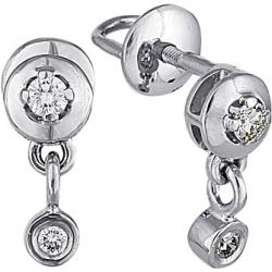 Серьги пусеты (гвоздики) с бриллиантами