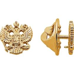 Значок серебряный герб России