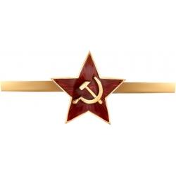 """Кокарда с эмалью """"Красная звезда с серпом и молотом"""""""
